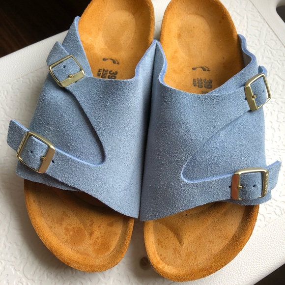 86f3786cf66f Birkenstock Shoes - RARE Zurich Birkenstock baby blue suede leather